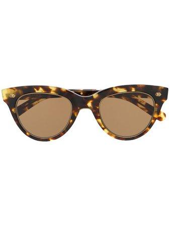 Garrett Leight Tortoiseshell Frame Sunglasses - Farfetch