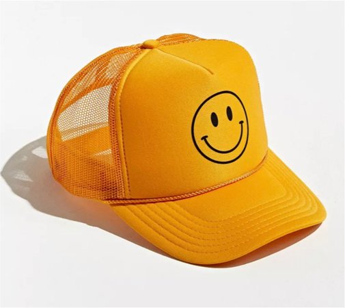 Yellow happy face hat