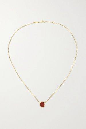 Gold 18-karat gold jasper necklace | Dubini | NET-A-PORTER