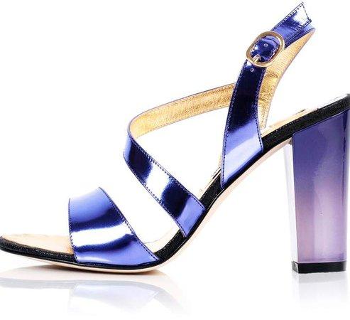 Kim Kwang Metallic Effect Timeless Classic Sandals Purple