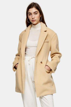 Buttermilk Oversized Dad Coat | Topshop