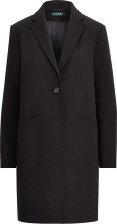 Ralph Lauren Stretch Crepe One-Button Coat