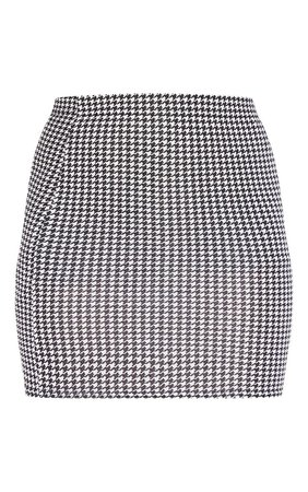 Dogtooth Check Print Mini Skirt | PrettyLittleThing USA