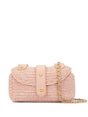 Chanel Pre-Owned 2006 Woven CC Shoulder Bag - Farfetch