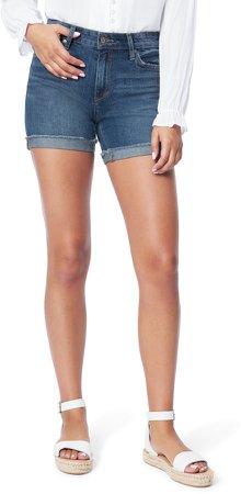 Cuffed Bermuda Denim Shorts