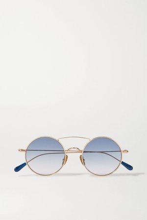 Gold Round-frame gold-tone sunglasses | Kaleos | NET-A-PORTER
