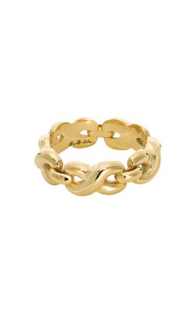 14k Gold-Plated Twisted Bold Link Ring By S.sil   Moda Operandi