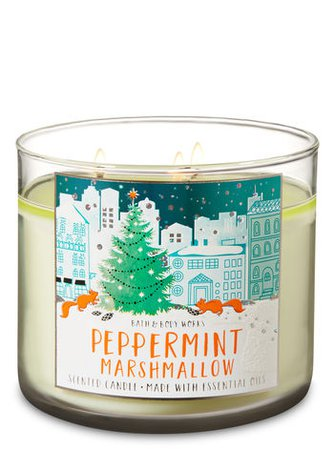 Peppermint Marshmallow 3-Wick Candle | Bath & Body Works
