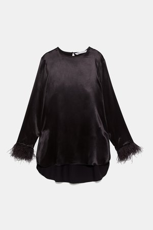 FEATHER BLOUSE - View All-SHIRTS | BLOUSES-WOMAN | ZARA United States