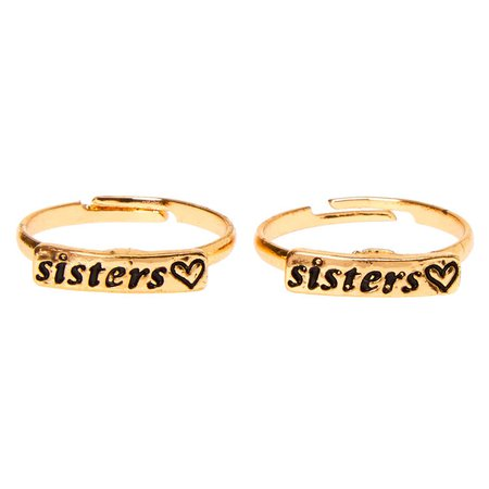 Gold Sisters Rings - 2 Pack | Claire's US