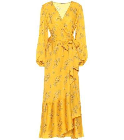 Exotic Piyata silk wrap dress