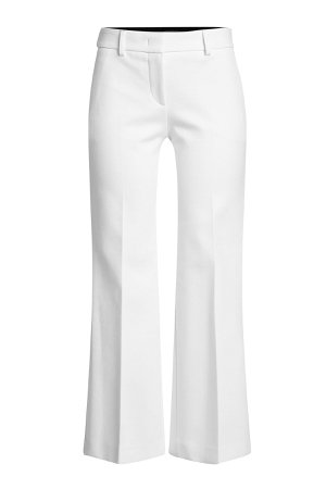 Cropped Wide-Leg Pants with Cotton and Linen Gr. IT 42