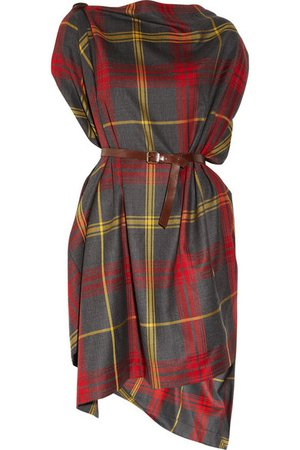 Vivienne Westwood Anglomania | Rectangle tartan wool dress | NET-A-PORTER.COM