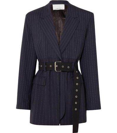 3.1 Phillip Lim Oversized Belted Pinstriped Wool-Blend Blazer ($850)