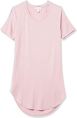 Amazon.com: Daily Ritual Women's Jersey Short-Sleeve Open Crew Neck Tunic, Deep Blue, Large: Clothing