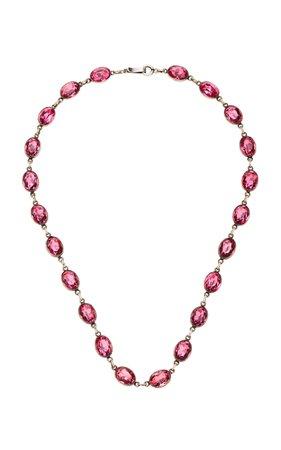 VELA Antique Silver Glass Necklace