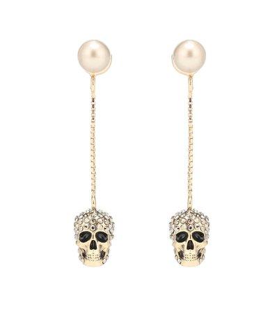 Skull Crystal-Embellished Earrings | Alexander McQueen - Mytheresa