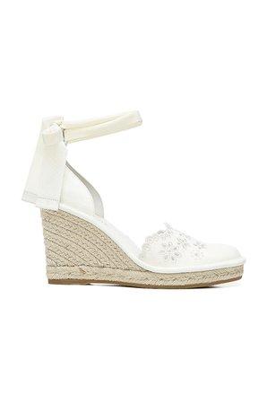 Veronica Beard Soleil Espadrille Sandal in Off White   REVOLVE