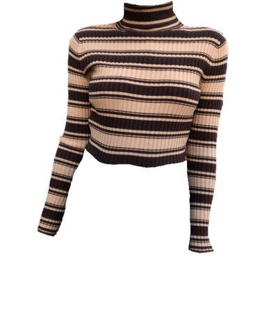stripey turtleneck top