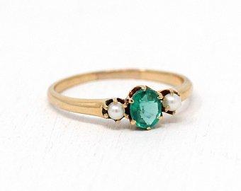 Blank Signet Ring Edwardian Gold Filled Round Swirling Art   Etsy