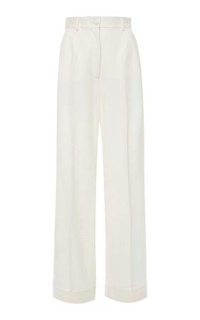 Dolce & Gabbana WHITE TROUSER