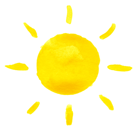 yellow sun png