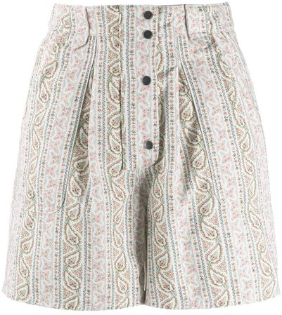 striped paisley pattern shorts