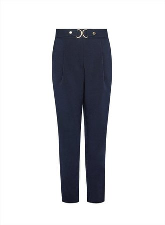 Navy Tailored Snaffle Trousers | Dorothy Perkins