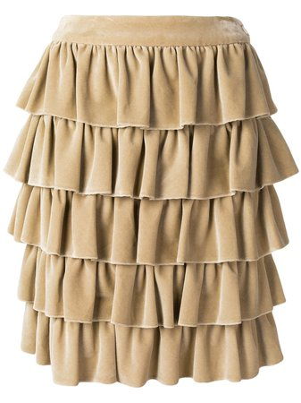 Chanel Pre-Owned 2001 Ruffled Skirt - Farfetch