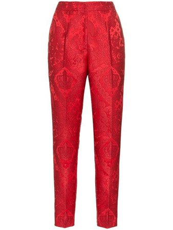 Dolce & Gabbana tapered jacquard trousers $1,075 - Buy Online AW18 - Quick Shipping, Price