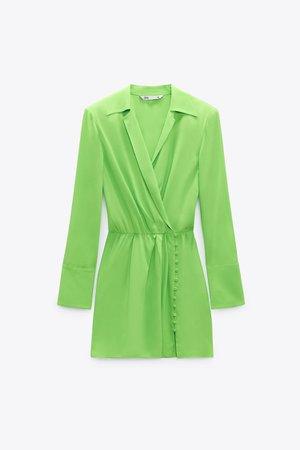 SHOULDER PAD SHIRT DRESS   ZARA United States