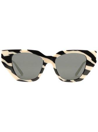 Gucci Eyewear zebra pattern cat-eye-frame sunglasses - FARFETCH