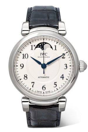 IWC SCHAFFHAUSEN | Da Vinci Automatic Moon Phase 36mm stainless steel and alligator watch | NET-A-PORTER.COM