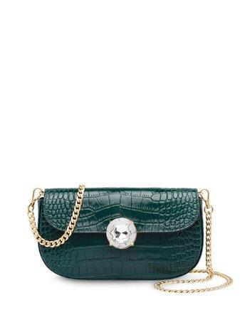 Green Miu Miu Crocodile Effect Mini Bag | Farfetch.com