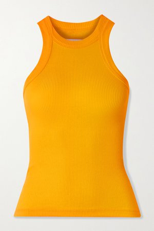 Saffron The Rivington ribbed stretch-TENCEL Lyocell tank | WSLY | NET-A-PORTER