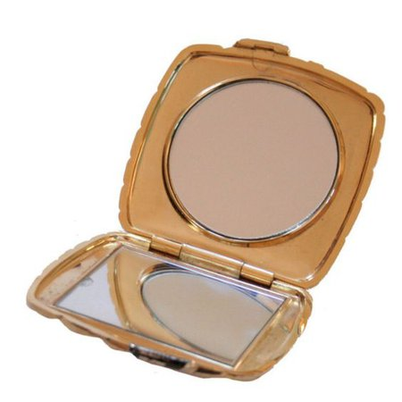 Gold compact mirror vintage