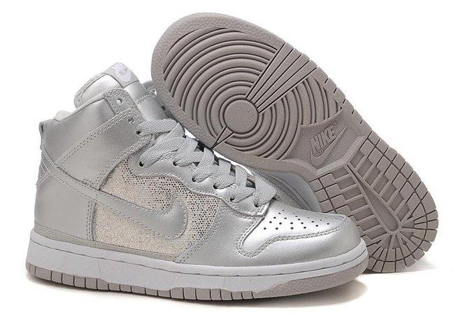 Acheter Femme Nike Dunk High Chaussures Argent/Mettousic Grise Soldes 325203-001 [4801] : Chaussure nike air max,air jordan,free run,nike shoes pas cher