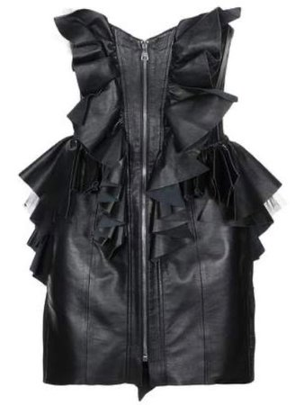 Natasha Zinko | Short Leather Strapless Dress