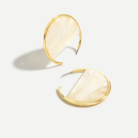 J.Crew: Acetate Hoop Earrings For Women