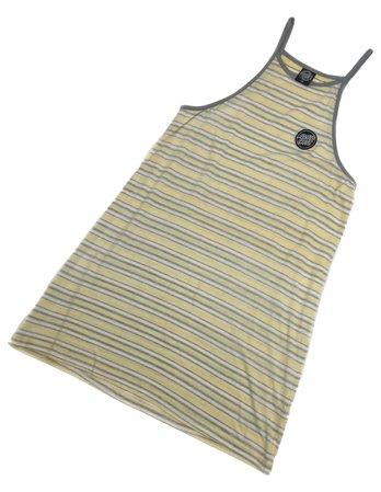 Santa Cruz Women's Pale Yellow Striped Singlet Racerback Dress Size 12 RRP $65