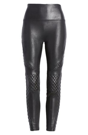 SPANX® Quilted Faux Leather Leggings | Nordstrom