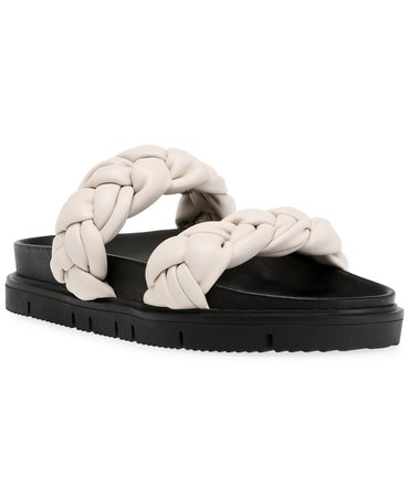 Bone Steve Madden Women's Choice Braided Footbed Sandals & Reviews - Sandals - Shoes - Macy's