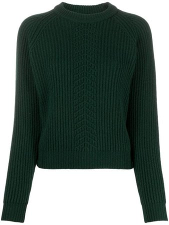 Green Maison Margiela rib-knit wool jumper - Farfetch