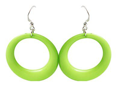 lime green earring - Google Search