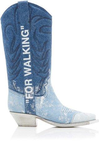 Denim Cowboy Boots