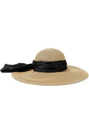 Honey satin-trimmed straw sunhat | EUGENIA KIM | Sale up to 70% off | THE OUTNET