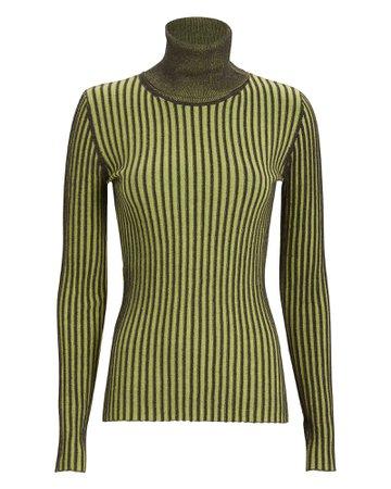 Striped Cotton Turtleneck Sweater
