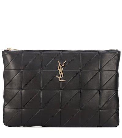 Jamie leather clutch