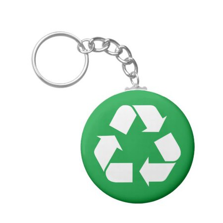 Recycle - Earth Day Keychain | Zazzle.com