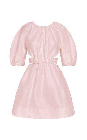 Psychedelia Cutout Linen-Blend Mini Dress By Aje   Moda Operandi